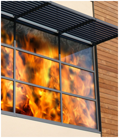 Fireproof wooden windows