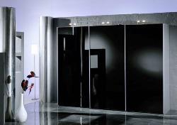 Lacobel zwart glas